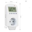 Konnektor termosztát - Programozható!  16A