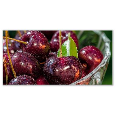 Üveg - kép infrapanel Cherries (600 W) Új termék!