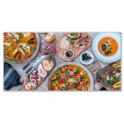 Üveg - kép infrapanel Food 4 (600 W) Új termék!